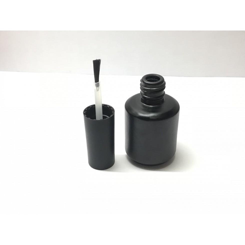 bouteille en verre 15ml noir. Black Bedroom Furniture Sets. Home Design Ideas