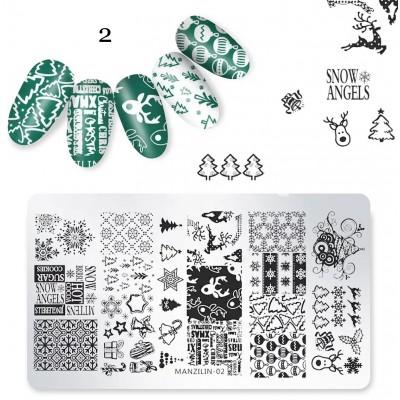 Plaque de Stamping Noël  #2
