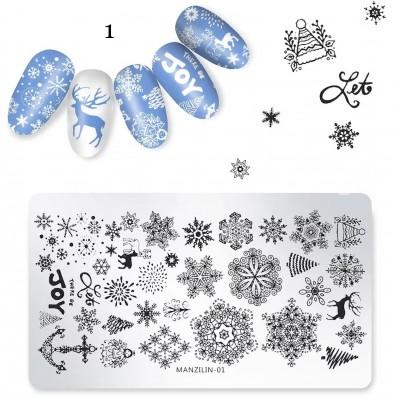 Plaque de Stamping Noël #1