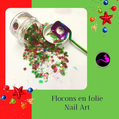 Flocons en folie Nail Art
